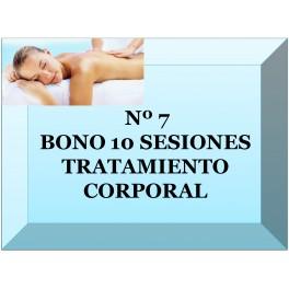 Nº 7 BONO 10 SESIONES TRATAMIENTO CORPORAL
